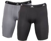 ADIDAS SPORT PERFORM CLIMALITE MENS BOXER 2 UN PACK M BLACK/GREY