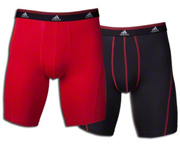 ADIDAS SPORT PERFORM CLIMALITE MENS BOXER 2 UN PACK M BLACK/RED