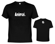 ANIMAL T-SHIRT ANIMAL LOGO POLERA ENTRENAMIENTO (M) BLACK
