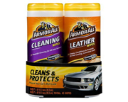 ARMOR ALL LEATHER + CLEANING WIPES TOALLITAS LIMPIEZA PACK 2 UNI