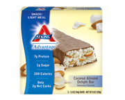 ATKINS ENDULGE PROTEIN BAR BARRAS PROTEINAS BOX 5 U COCONUT ALMO