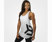 BETTER BODIES POLERA WOMENS CHELSEA T-BACK TANK (S) WHITE