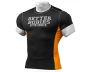 BETTER BODIES POLERA DEPORTIVA TIGHT FIT TEE (S) BLACK