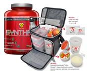 BSN SYNTHA-6 PROTEINA PREMIUM 5 LBS + BOLSO FITMARK THE BOX
