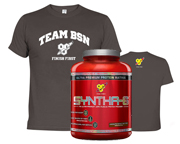 BSN SYNTHA-6 PROTEINA 5 LBS + POLERA TEAM BSN T-SHIRT PACK DUO