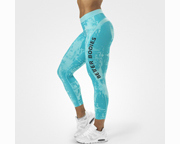 BETTER BODIES PANTALON WOMENS GRACIE CURVE TIGHTS (S) AQUA PRINT
