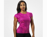BETTER BODIES POLERA WOMENS PERFORMANCE CUT TEE (S) PINK