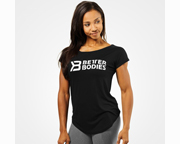 BETTER BODIES POLERA WOMENS GRACIE TEE (L) BLACK