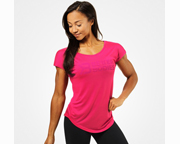 BETTER BODIES POLERA WOMENS GRACIE TEE (S) HOT PINK