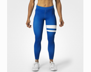 BETTER BODIES PANTALON WOMENS VARSITY STRIPE TIGHTS (XS) BLUE