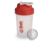 BLENDER BOTTLE MINI SUPER SHAKER MEZCLADOR W/BALL 400ML REDCAP