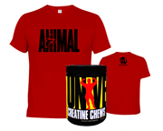 CREATINA CHEWS 144 CHEWS + POLERA ANIMAL T-SHIRT ICONIC PACK DUO