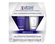 CREST 3D WHITE BRILLIANCE KIT BLANQUEADOR DIENTES 2 STEP