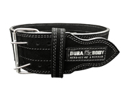 CINTURON ENTRENAMIENTO DURABODY HARDCORE LEATHER BELT (S) BLACK