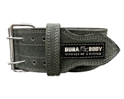 CINTURON ENTRENAMIENTO DURABODY HARDCORE LEATHER BELT (L) GRAY