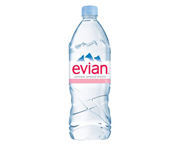EVIAN NATURAL SPRING WATER AGUA MINERAL SIN GAS 1 LITRO