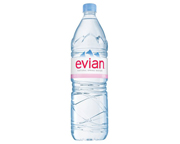 EVIAN NATURAL SPRING WATER AGUA MINERAL SIN GAS 1,5 LITROS