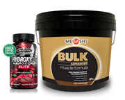 HYDROXYCUT ELITE + MUSASHI PROTEINA BULK ADVANCED MUSCLE 4 LB