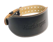 CINTURON ENTRENAMIENTO HARBINGER LEATHER LIFTING BELT (L) BLACK