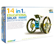KIT ROBOT SOLAR EDUCATIVO ARMABLE 14 EN 1 DIY GADGET ROBOTICA