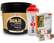 MUSASHI PROTEINA BULK ADVANCED 4 LBS + SQUEEZY ENERGY GEL 12 UNI