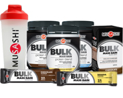 MUSASHI PACK PROTEINAS BULK MASS GAIN DREAM BIG,GET BIG,GET BULK