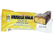 MUSCLE MILK HIGH PROTEIN SNACK BAR BARRAS PROTEINAS VANILLA