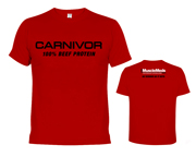 MUSCLEMEDS CARNIVOR 100% BEEF PROTEIN T-SHIRT POLERA (L) RED