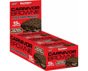 MUSCLEMEDS CARNIVOR BROWNIE BAR BROWNIES DE PROTEINAS 12 UN CHOC