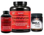 MUSCLEMEDS CARNIVOR BEEF PROTEIN 4 LBS + BEEF AMINOS + BULK