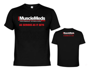 MUSCLEMEDS AS SERIOUS AS IT GETS T-SHIRT POLERA (L) BLACK