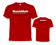 MUSCLEMEDS AS SERIOUS AS IT GETS T-SHIRT POLERA (L) RED