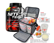 MUSCLETECH PROTEINA NITRO-TECH 4 LBS + BOLSO FITMARK THE BOX