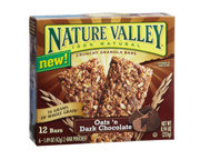 NATURE VALLEY CRUNCHY GRANOLA BAR BARRAS PROTEINAS 12 UN CHOCOLA