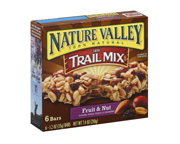 NATURE VALLEY TRAIL MIX GRANOLA BAR BARRAS PROTEINAS 6 UN FRUIT