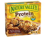 NATURE VALLEY PROTEIN CHEWY BAR BARRAS PROTEINAS 5 UN PEANUT ALM