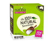 NATVIA STEVIA ENDULZANTE NATURAL ORGANICO 40 STICKS