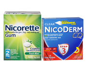 NICODERMCQ STEP 3 PARCHES 7 MG + NICORETTE GUM 4 MG PACK