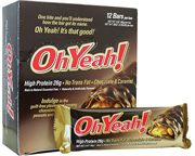 OH YEAH ORIGINAL HIGH PROTEIN BAR BARRAS PROTEINAS 12 UN CHOCOLA