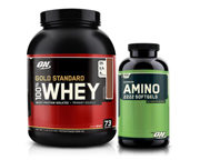 ON 100% WHEY PROTEIN GOLD STANDARD 5 LBS + ON AMINO 2222 SOFTGEL