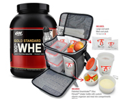 ON 100% WHEY PROTEIN GOLD STANDARD 5 LBS + BOLSO FITMARK THE BOX