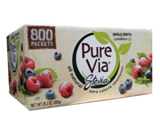 PURE VIA STEVIA ENDULZANTE NATURAL ORGANICO BOX 800 PACKETS
