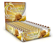 QUEST BAR NATURAL PROTEIN BAR BARRAS DE PROTEINAS 12 UNID BANANA