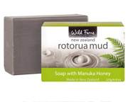 WILD FERNS NEW ZEALAND ROTORUA MUD SOAP  MANUKA HONEY JABON LODO