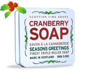 JABON SCOTTISH FINE SOAPS CLEANSING HAND SOAP 100GR CRANBERRY