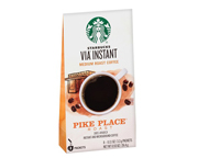STARBUCKS CAFE VIA INSTANTANEO PIKE PLACE ARABICA MEDIUM 8 PACK