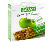 TASTE OF NATURE ORGANIC FOOD BAR BARRAS PROTEINAS 10 UN APPLE