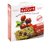 TASTE OF NATURE ORGANIC FOOD BAR BARRAS PROTEINAS 10 UN CRANBERR