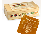 LUCAFFE TEA&SALUTE TE 100% ITALIANO BLACK TEA PEACH BOX 50 PODS
