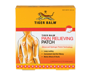 TIGER BALM PATCH BALSAMO DE TIGRE PARCHES DOLOR LUMBAR,ESPALDA